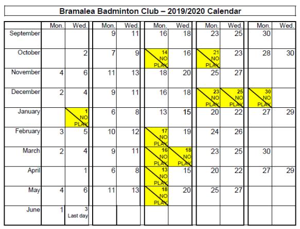 badminton calendar 2019-2020